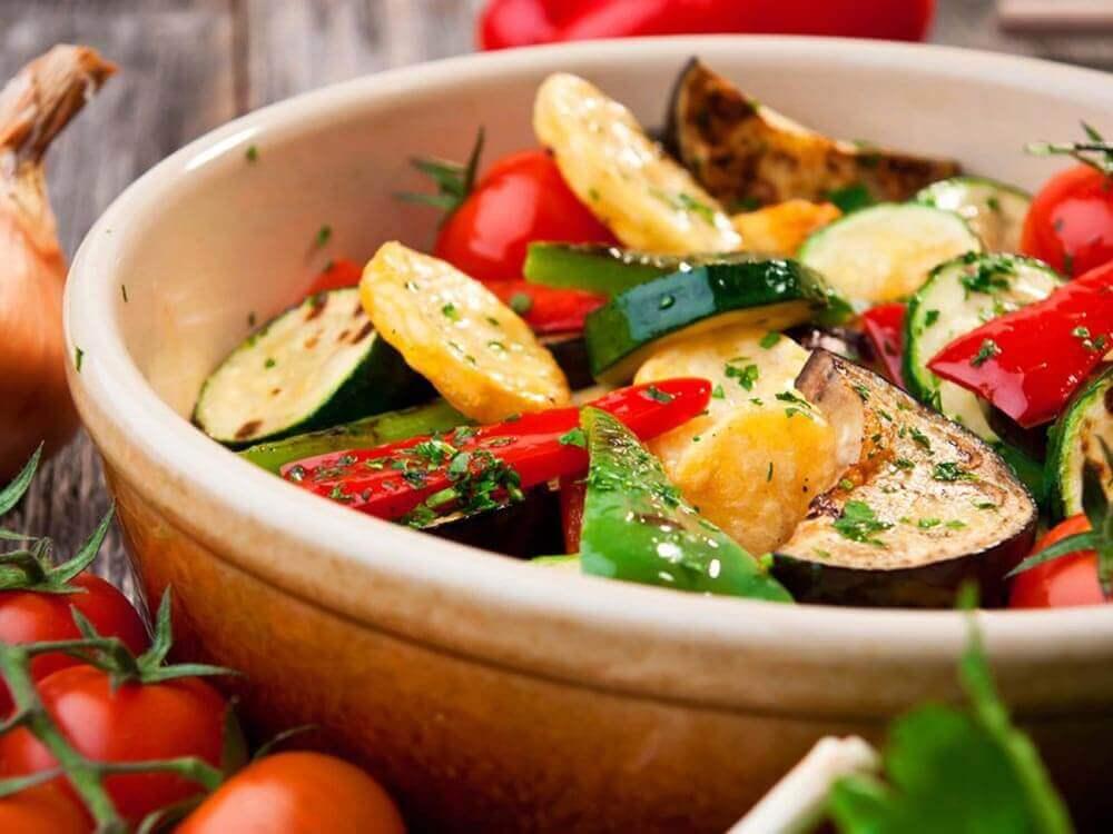 Vegetais crus ou cozidos
